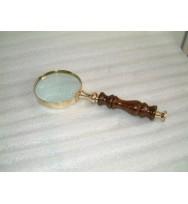 """Magnifier Antique Wood Handle 3"""""""