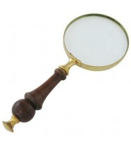 "Magnifier 4"" Wood Handle"