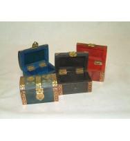 S/4 Wooden Boxes mix colour