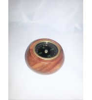 Wooden floating compass