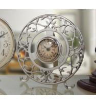 Trelis Round Mantel Clock