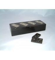 Dominoes Black Box White Inlay