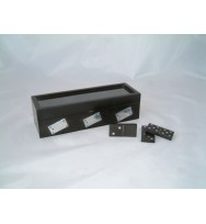 Black Dominoes Set glass cover