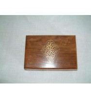 Box Celtic Brass Inlay 8x5