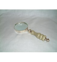 Magnifier EPNS Stone handle