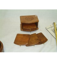 Coaster Set Tray type carved