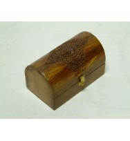Round Top Box Carved