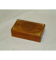 Box Carved W/Brass Corner
