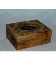Box burnt finish 8x6x3""