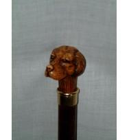 Dog Head Beechwood Walking Stick