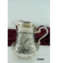 Medium Jug Floral Design Silver