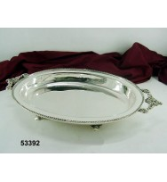 Tray w/Handle Floral Design S/P