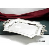 """Rect Tray """"Floral Design"""" S/P"""