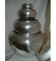S/4 Polished Aluminium Ball Pots