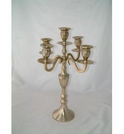 Candelabra 5Lt Shimmer Gold 42cm