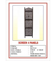 Screen 4 Panel Fine Cutwork