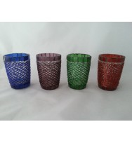 Votive Glass beeded 4 colours