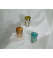 Glass Votive Blue