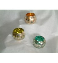 Glass Ball Votive Amber