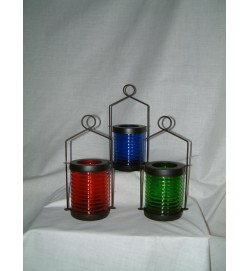 Candle Storm Lamp Red, Blue, Green