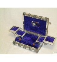 Jewellery Box Book Shape Silver
