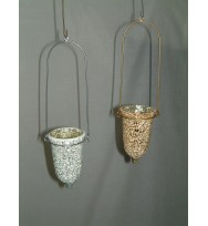Bell T- Light Crackle Mosaic Gold