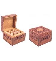 Carved box for 9 bottles