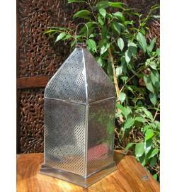 Antique Iron Sq Filigree Lantern