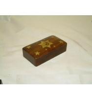 Darkwood Box w/stars & Yin Yang