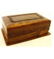 Carved Border Locking Box