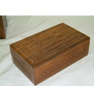 Carved box 10x6x3.5""