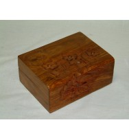 Box with Flower Carving 8x6