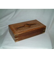 Tissue Box B/Inlay w/cutwork