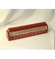 Ashcatcher Box Red with white