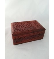Fully intricate carved box 6x4