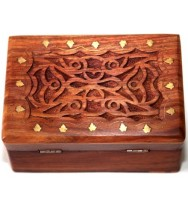 Celtic Style Carved Box small