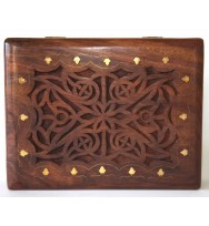 Celtic Style Carved Box large
