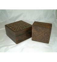 S/2 Crazy Paving Cutwork Box