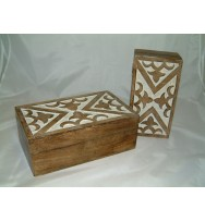 S/2 Long Burntwood Box