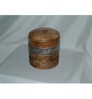 Jar w/lid Aluminium Deco