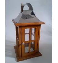 Wooden Lantern w/ cord Handle